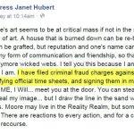 janet hubert tweet against kenya moore