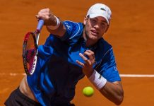 john isner beats adrian mannarino for madrid open round 2015