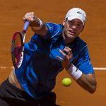 john isner slamming balls for 2015 rome masters open