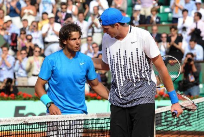 rafael nadal ousts john isner for 2015 rome masters open quarter finals images