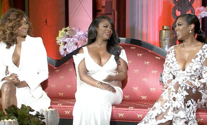 kandi burruss with kenya moore and cynthia rhoa reunion 2015