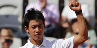kei nishikori beats paul henri mathieu french open 2015