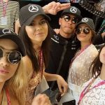 kendall jenner with gigi hadid at formula one grand prix 2015