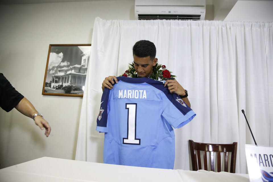 marcus mariota draft by titans 2015 nfl