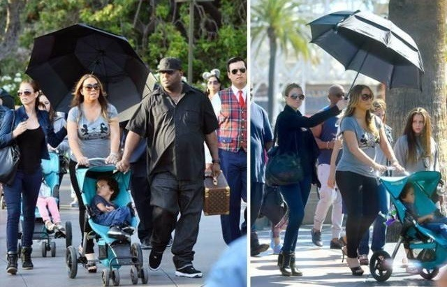 mariah carey divas it up at disneyland 2015 gossip
