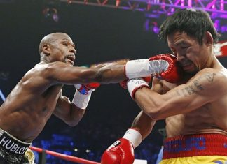 mayweather fights with manny pacquiao 2015 images