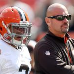 mike pettine browns coach with johnny manziel 2015