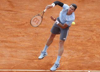 milos raonic beats juan monaco for madrid open 2015