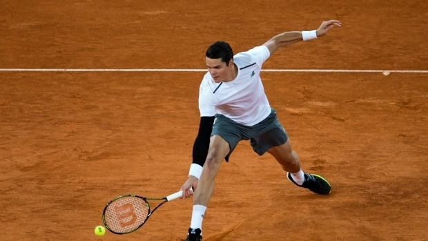milos raonic loses to andy murray 2015 madrid open