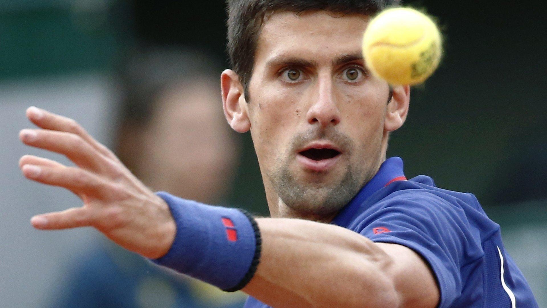 novak djokovic eye on the ball for 2015 rome masters open
