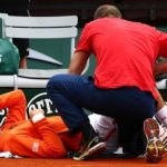 novak djokovic treated for groin injury 2015 french open bulge