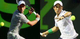 novak djokovic vs kei nishikori at rome masters 2015 images