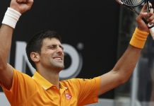 novak djokovic wins 2015 rome open beating roger federer
