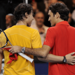 rafael nadal roger federer back stroke for madrid open 2015