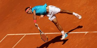 rafael nadal slams balls of tomas berdych 2015 madrid open