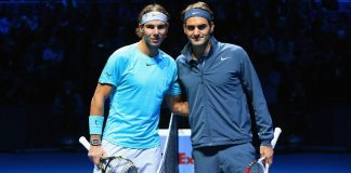 roger federer and rafael nadal taking on madrid open 2015roger federer and rafael nadal taking on madrid open 2015