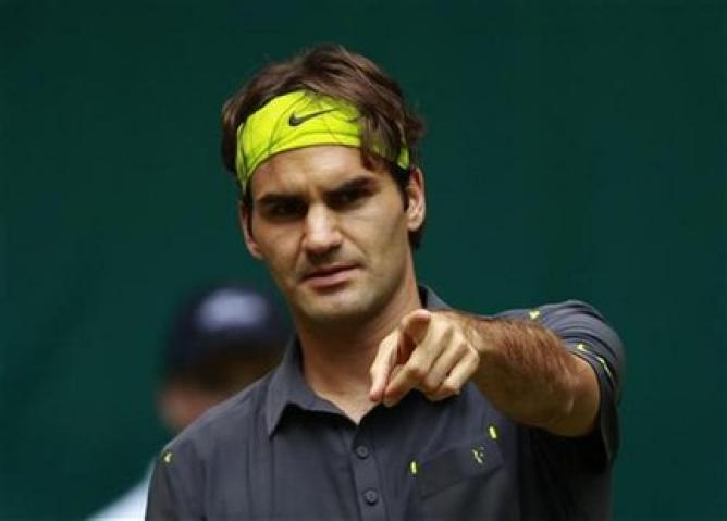 roger federer fighting for rome masters semi finals