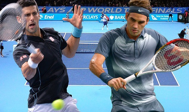 roger federer novak djokovic fight for rome open title 2015