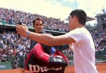 roger federer selfie fan french open 2015