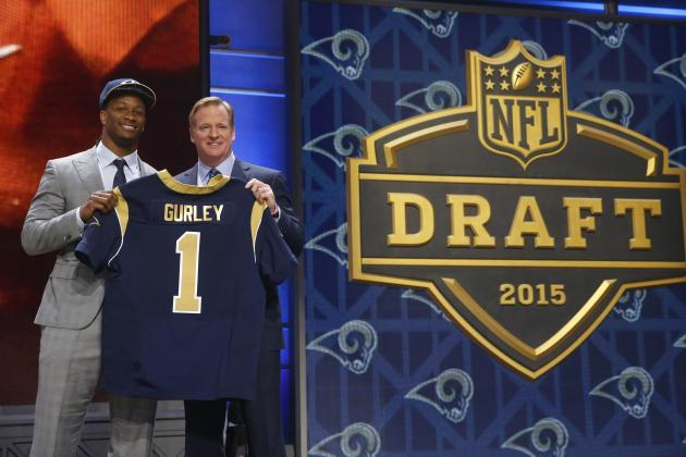 st louis rams pick todd gurley shocking nfl 2015