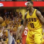 tristan thompson kills it for cavalivers nba finals 2015