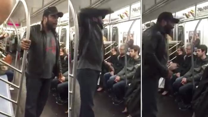 walking dead chad l coleman subway rant nyc 2015