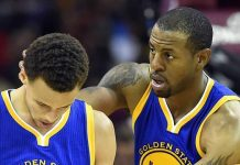 andre iguodala caressing steph curry neck golden state warriors mvp images 2015