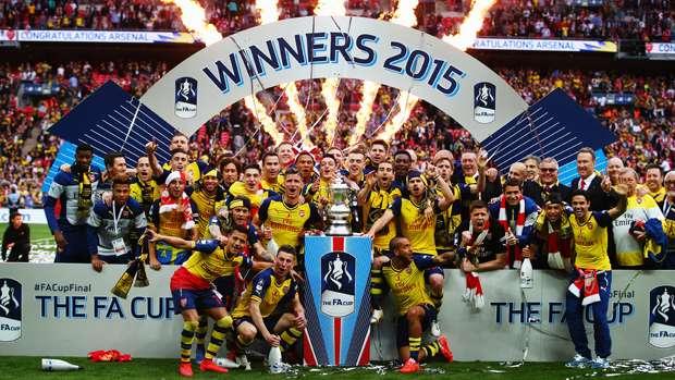 arseanl wins fa cup soccer 2015