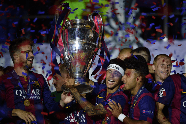 barcelona win fifth championship league 2015 images