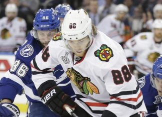 chicago blackhawks beat tampa bay lightning game 5 stanley cup 2015