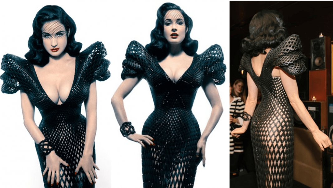 dita von teese boosting creative innovations with 3d printing dress 2015