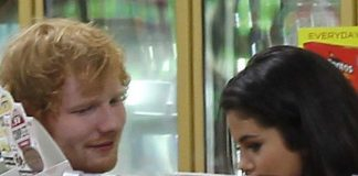 ed sheeran in grocery with selena gomez avoiding justin bieber 2015 gossip