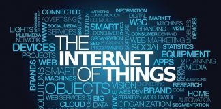 The Internet of things market connected smart devices tag cloud