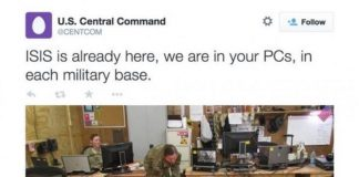 isis claims attack hack on us military bases
