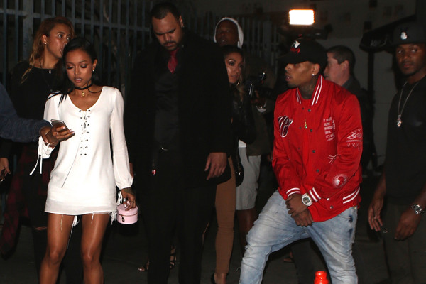 karrueche tran chris brown fighting 2015 gossip