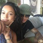 karrueche tran with memphis depay for chris brown 2015 gossip