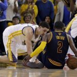 kyrie irving cavaliers injured game 1 nba finals 2015