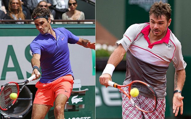 roger federer vs stan wawrinka 2015 french open