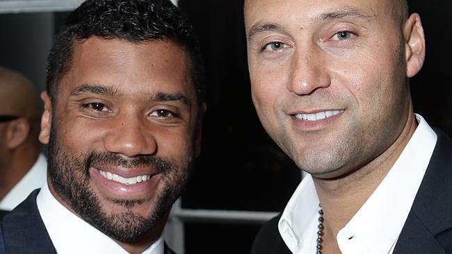 russell wilson with derek jeter website 2015 images