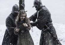 shireen tied to stake game of thrones dance of dragons 2015