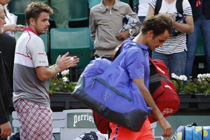 stan wawrinka beats roger federer 2015 french open