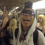 brandy singing on subway no one notices