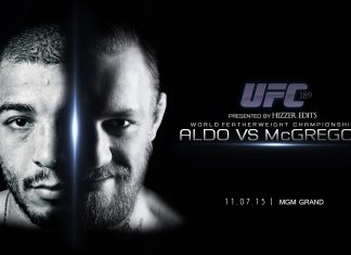 mcgregor bulge takes on aldo ufc 189 2015 images