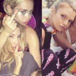 miley cyrus with victorias secret stella maxwell sexy 2015 gossip