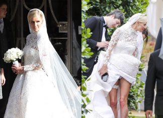 nicky hilton wedding gown 2015 gossip