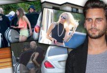 scott disick limo girls 2015 kourtney kardashian 2015 gossip