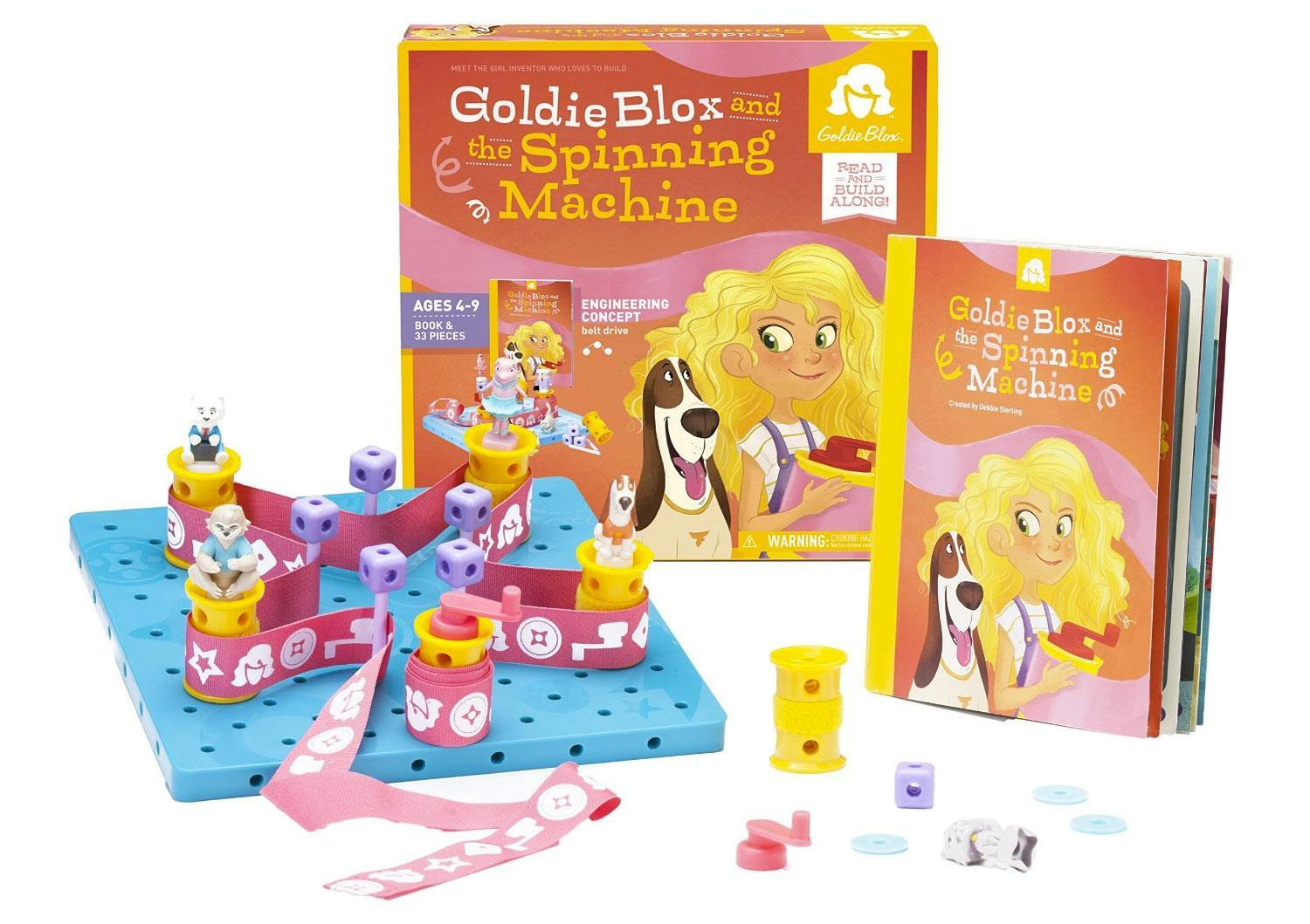 Goldie Blox and the Spinning Machine Game and Contents