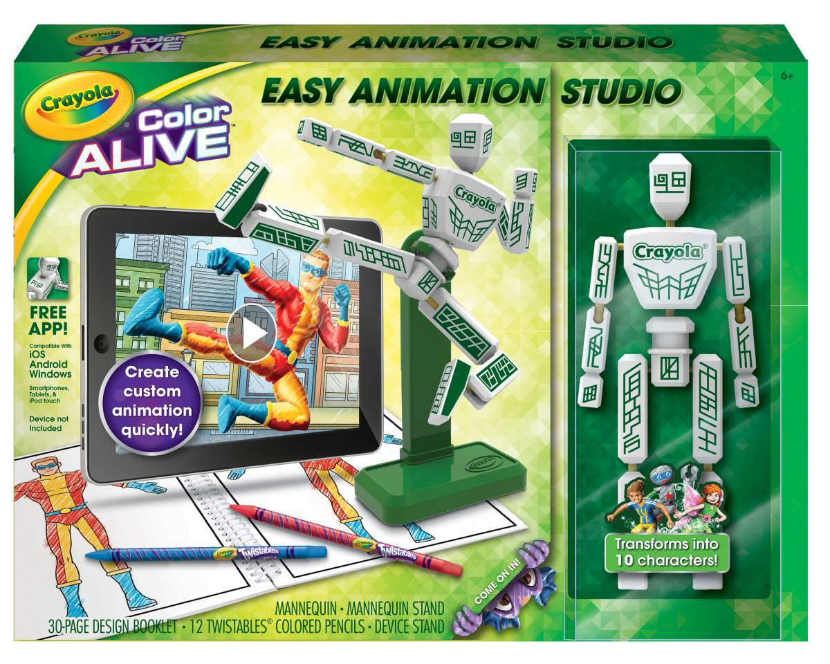 crayola color alive easy animation studio 2015 hottest toys