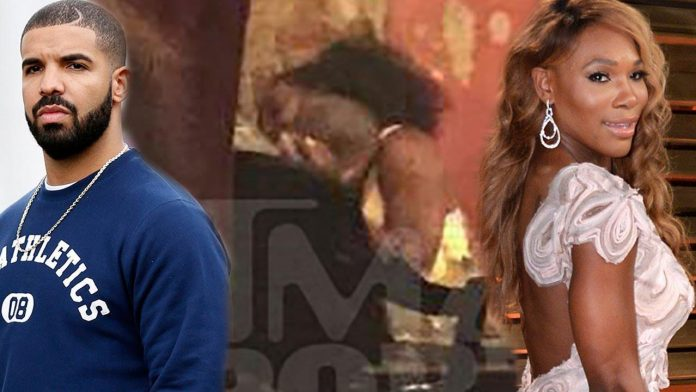 drake serving up kiss with serena williams 2015 gossip