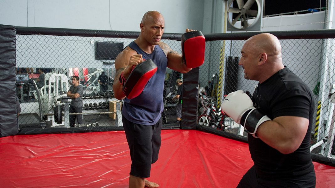 dwayne johnson spars with mma jay glazer ballers 106 recap 2015